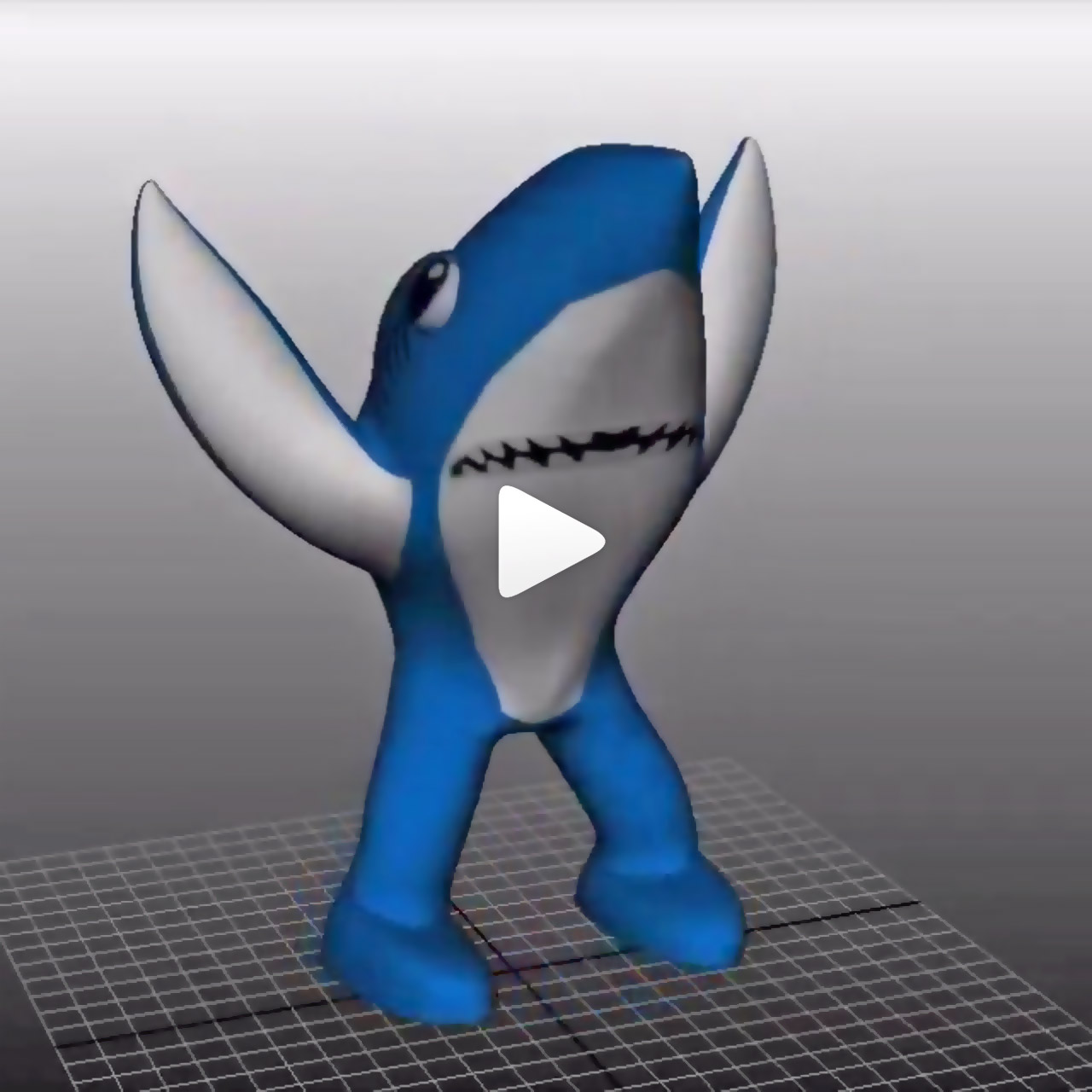 3D model of Left Shark from Katy Perry Super Bowl halftime performance