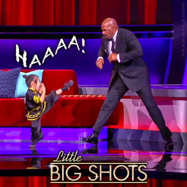 5-year-old kung fu artist Calleigh Tsay impresses Steve Harvey on 'Little Big Shots'