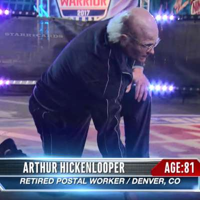 81-year-old Arthur Hickenlooper (Brent Steffensen) takes on American Ninja Warrior course