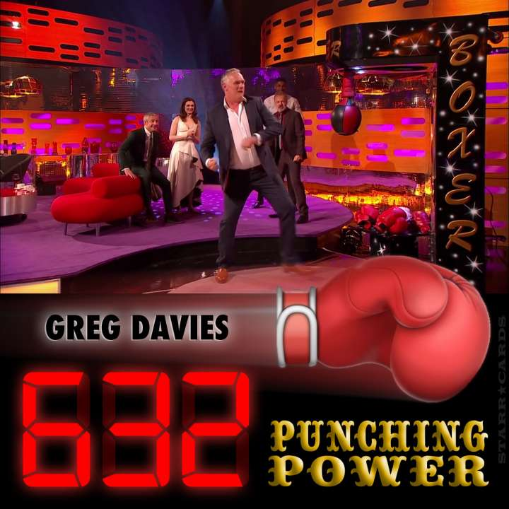 Actor Greg Davies scores 632 on arcade boxing machine on 'The Graham Norton Show'