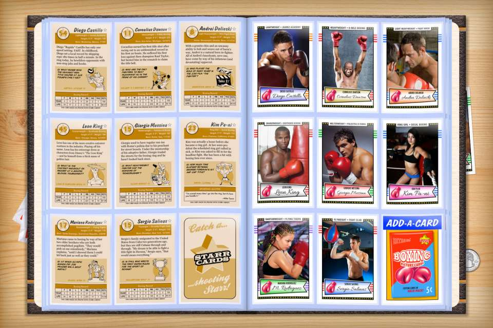 Make your own custom boxing cards with Starr Cards.
