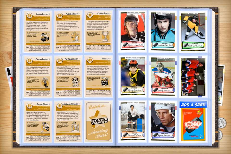 Make your own custom hockey cards with Starr Cards.