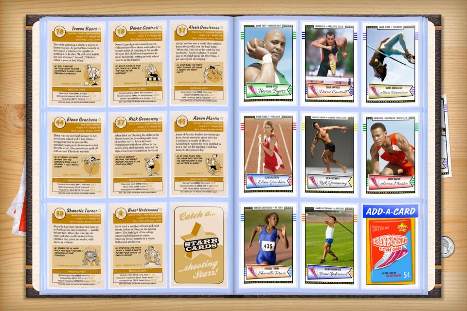 Make your own custom track and field cards with Starr Cards.