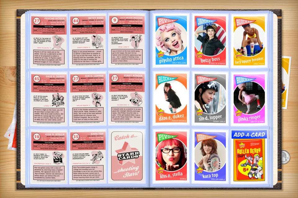Make your own custom roller derby cards with Starr Cards.
