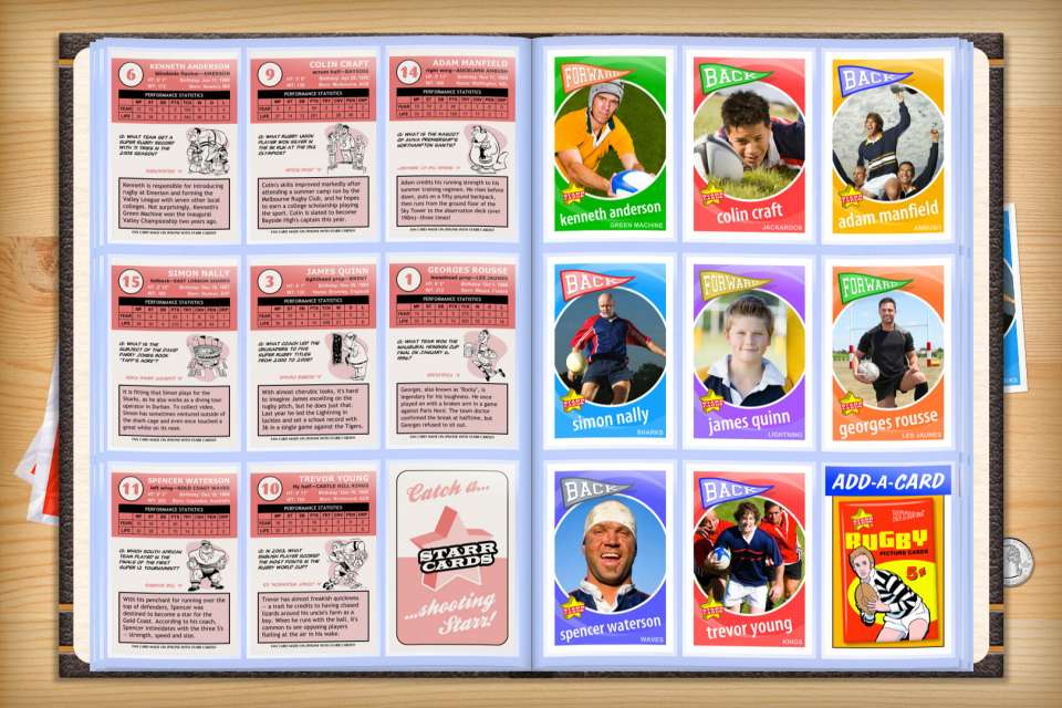 Make your own custom rugby cards with Starr Cards.