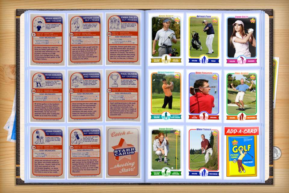 Make your own custom golf cards with Starr Cards.