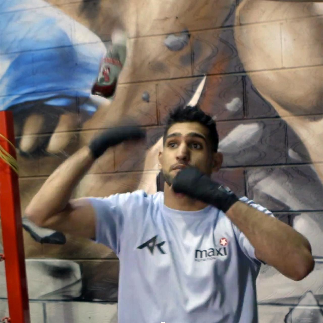 Amir Khan boxing trick with milk bottle