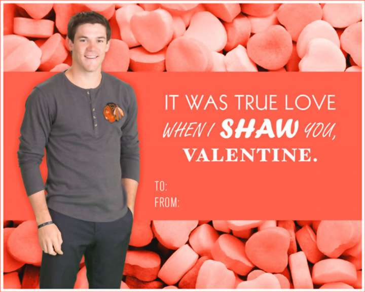 Andrew Shaw Valentine's Day card