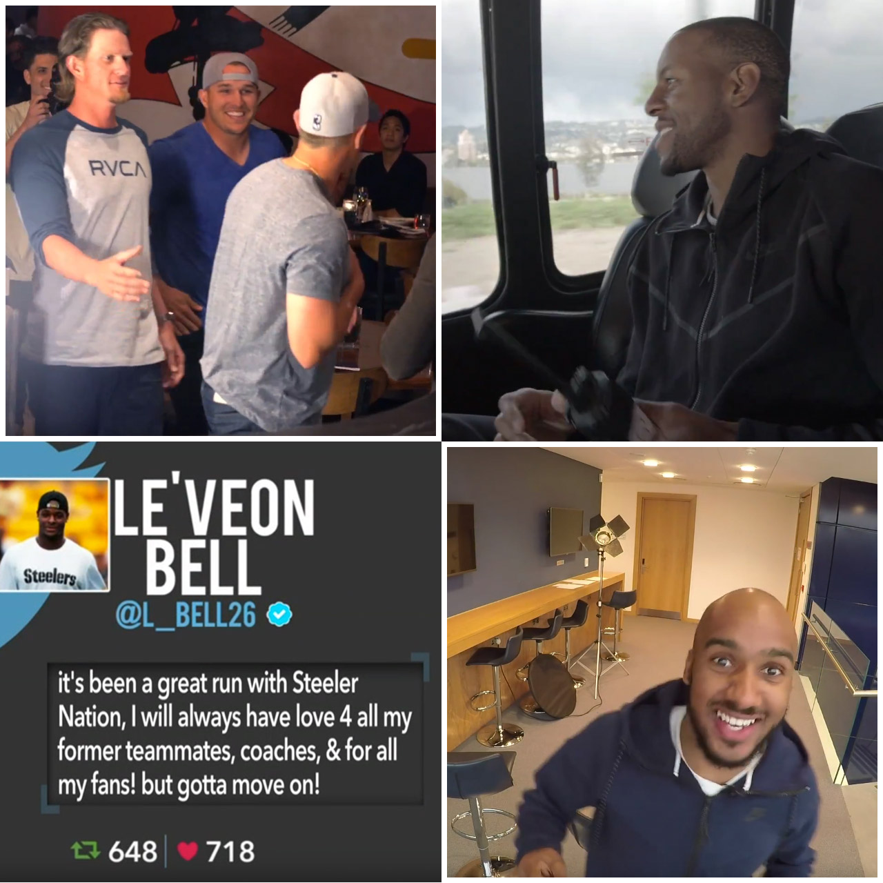 April Fools' Day pranks with Mike Trout, Andre Iguodala, Le'Veon Bell and Fabian Delph