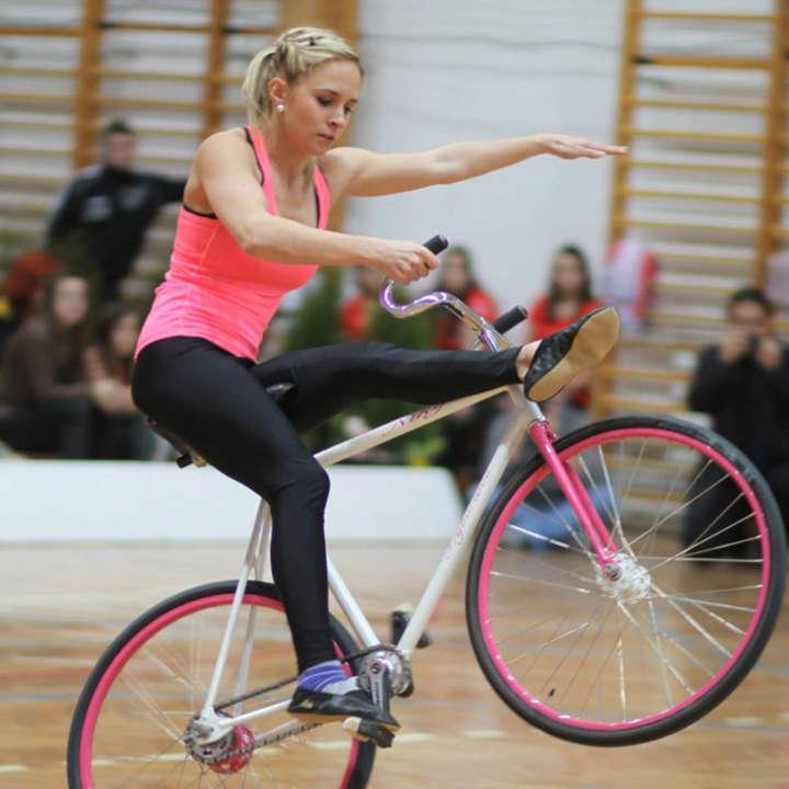 Artistic cycling is like gymnastics on wheels for Nicole Frýbortová