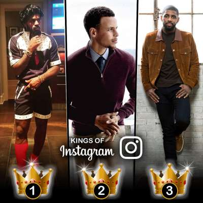 Basketball Kings of Instagram: LeBron James, Steph Curry, Kyrie Irving