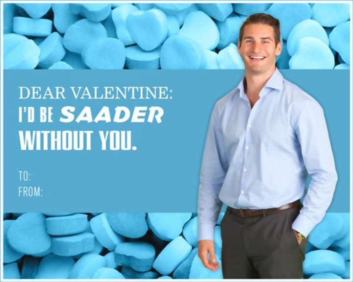 Brandon Saad Valentine's Day card