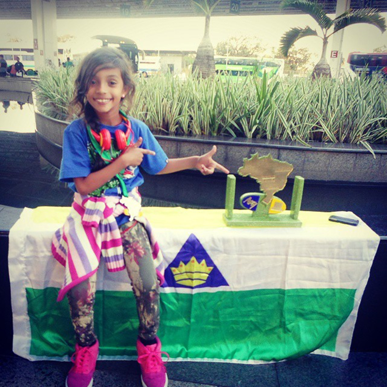 Brazilian 7-year-old Rayssa Leal is a skateboarding prodigy