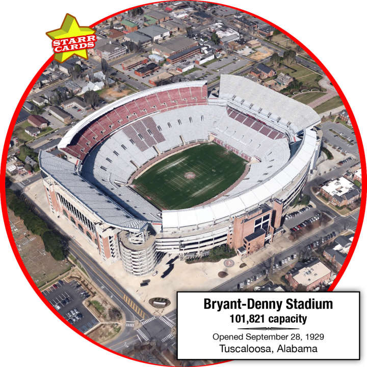 Bryant-Denny Stadium, Tuscaloosa, Alabama: Home to the Alabama Crimson Tide