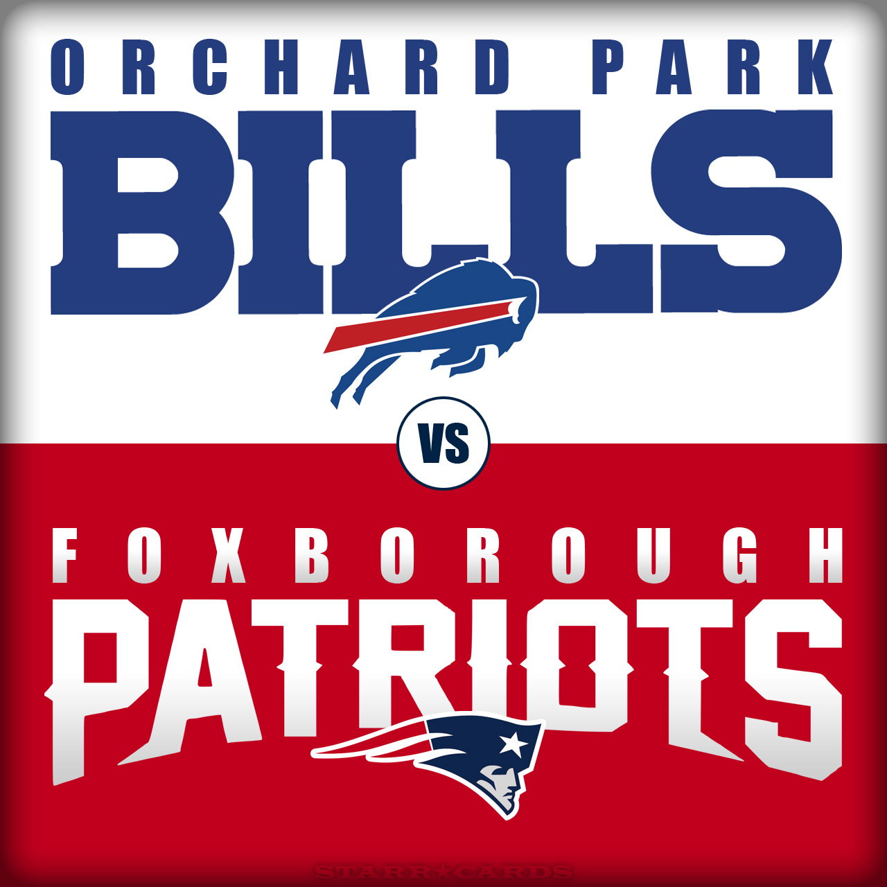 Buffalo Bills vs New England Patriots, or Orchard Park Bills vs Foxborough Patriots?
