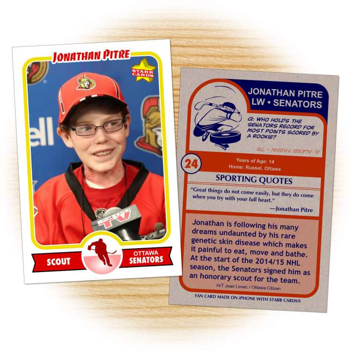'Butterfly Child' Jonathan Pitre signed as pro scout by Ottawa Senators