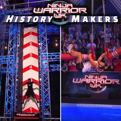 Cain Clarke and Jonny Urszuly star on 'Ninja Warrior UK' obstacle course