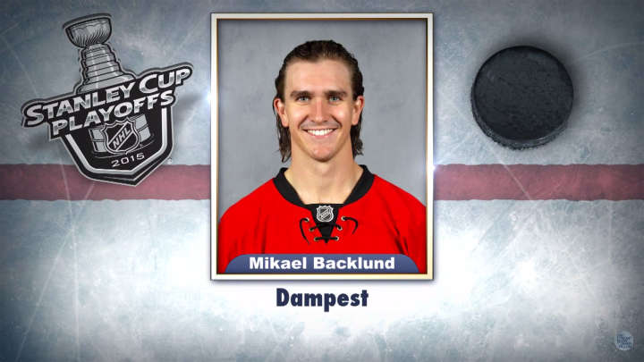 "Calgary Flames center Mikael Backlund on ""Tonight Show Superlatives"" read by Jimmy Fallon"