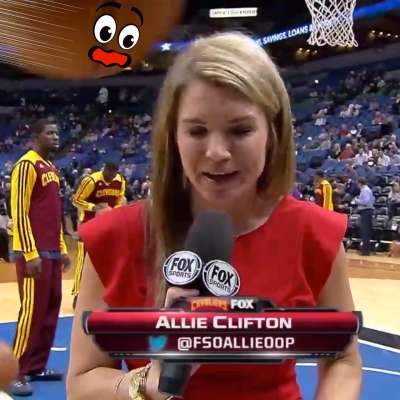 Cavaliers reporter Allie Clifton hit by basketball during shoot around