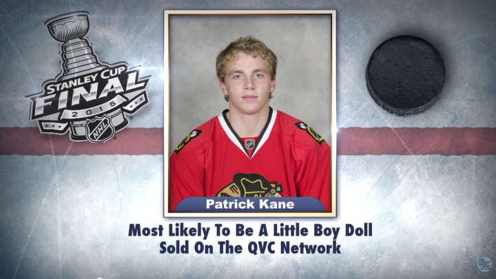 "Chicago Blackhawks' Patrick Kane on ""Tonight Show Superlatives"" read by Jimmy Fallon"