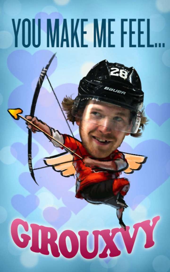 Claude Giroux Valentine's Day card