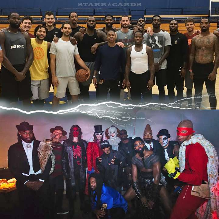 Cleveland Cavaliers transform for LeBron James' 2017 Halloween party