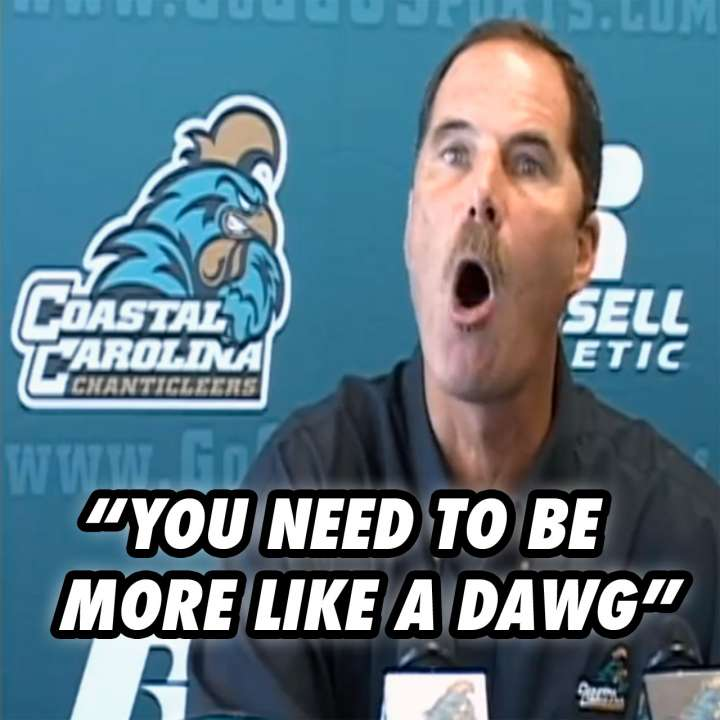 Coastal Carolina football coach David Bennett rants about cats and dogs