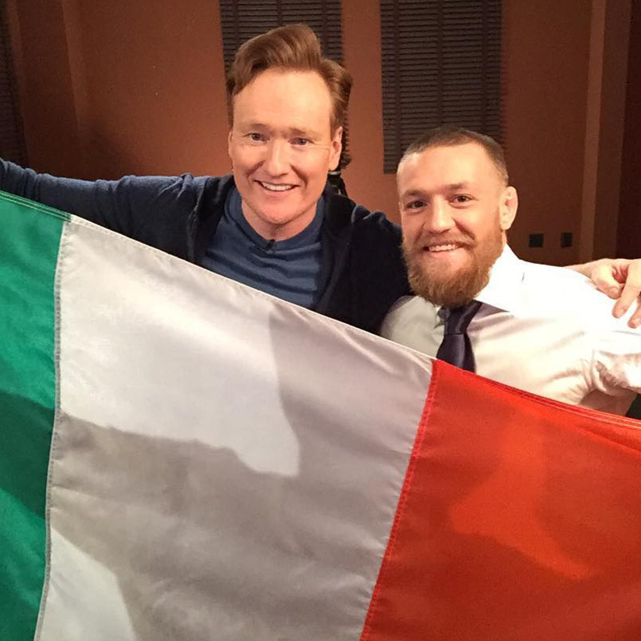 Conan O'Brien with first cousin Conor McGregor