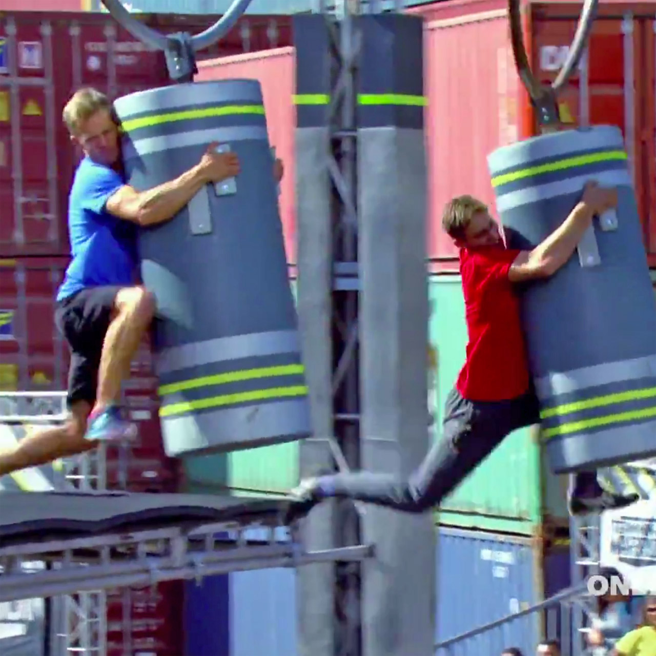 Dillon Gates out races Geoff Britten on 'Team Ninja Warrior'