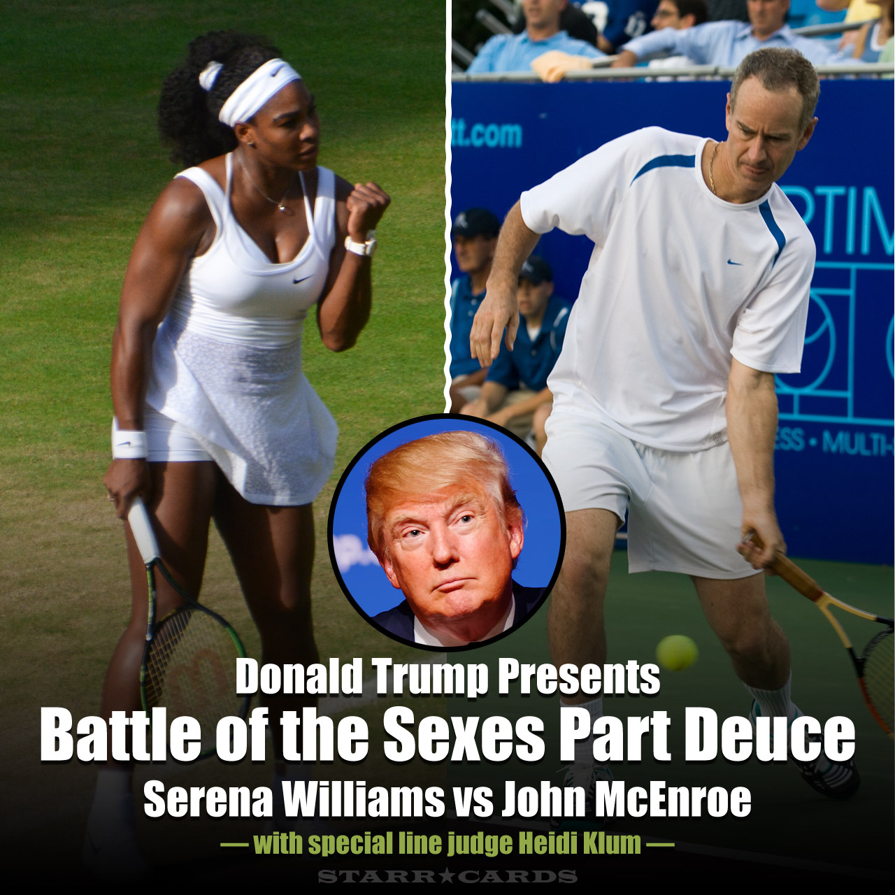 Donald Trump presents Battle of the Sexes Part Deuce: Serena Williams vs John McEnroe