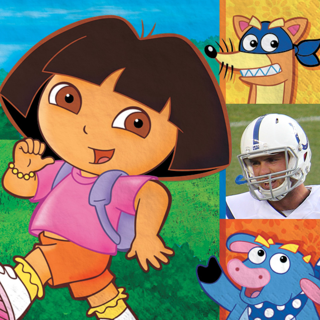 Dora The Explorer and Andrew Luck