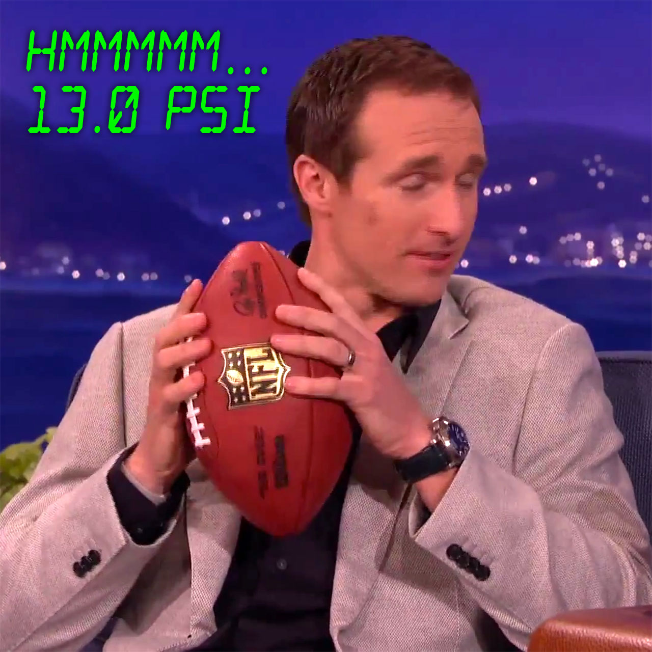 Drew Brees can read ball pressure with his hands