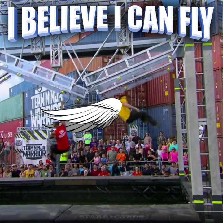 Drew Drechsel goes airborne on 'Team Ninja Warrior'