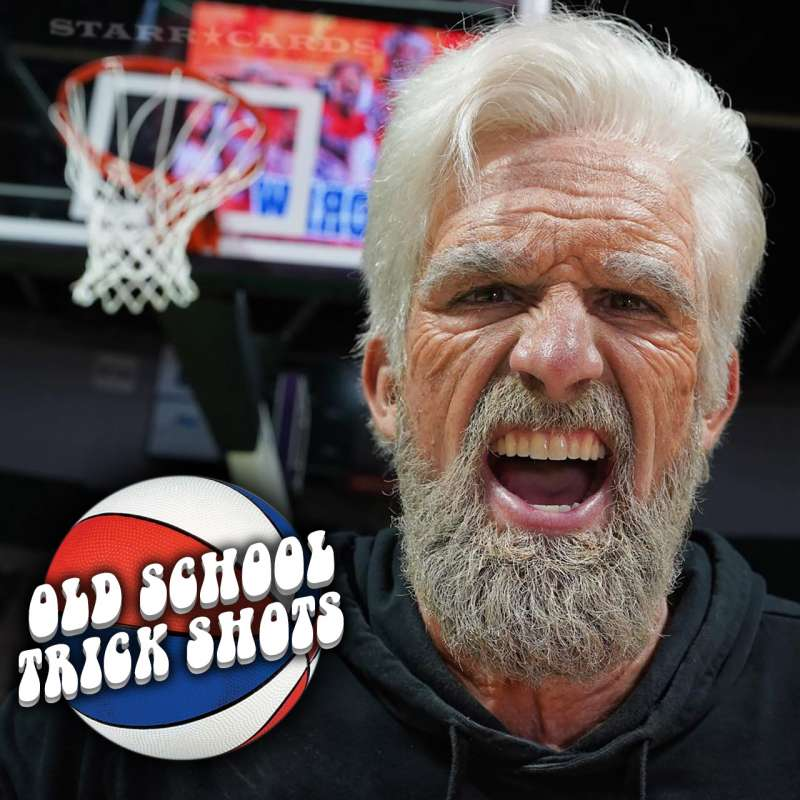 Dude Perfect's Tyler Toney gets old-man treatment for Old School Trick Shots video