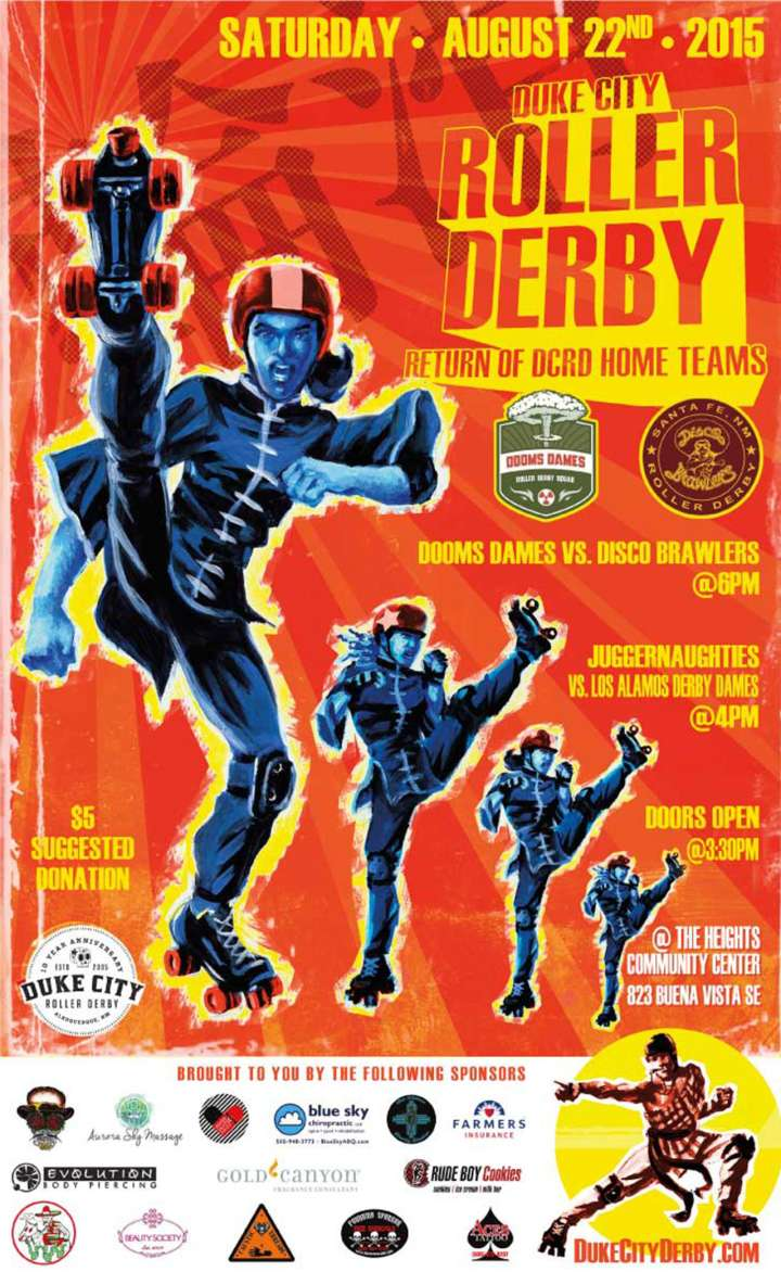 Duke City Roller Derby Poster