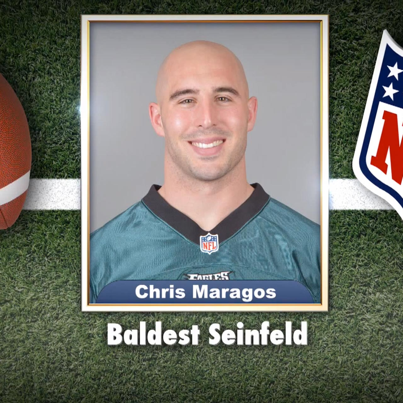 "Eagles' Chris Maragos voted ""Baldest Seinfeld"""