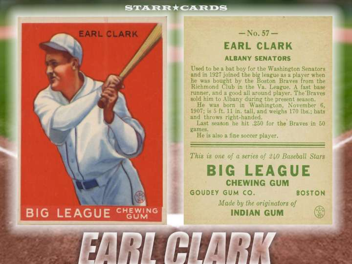 Earl Clark Albany Senators baseball card
