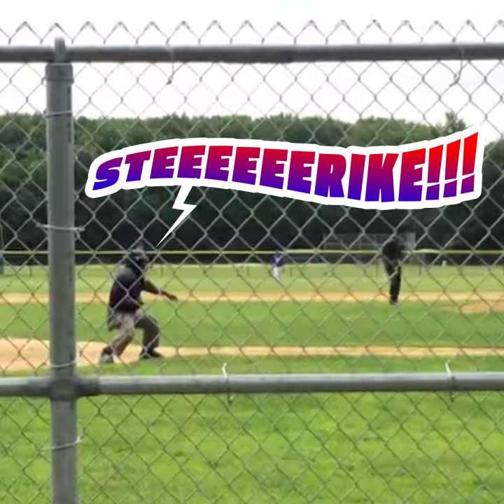 """Eddie the Ump adds """"Naked Gun"""" oomph to his strike-three calls"""