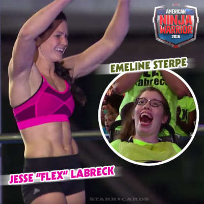 Emeline Sterpe cheers on Jesse Labreck at 'American Ninja Warrior' Philadelphia Finals