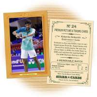 Fan card of Indian badminton star Kidambi Srikanth