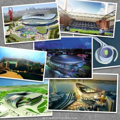 Football club designs for soccer stadiums that never got built
