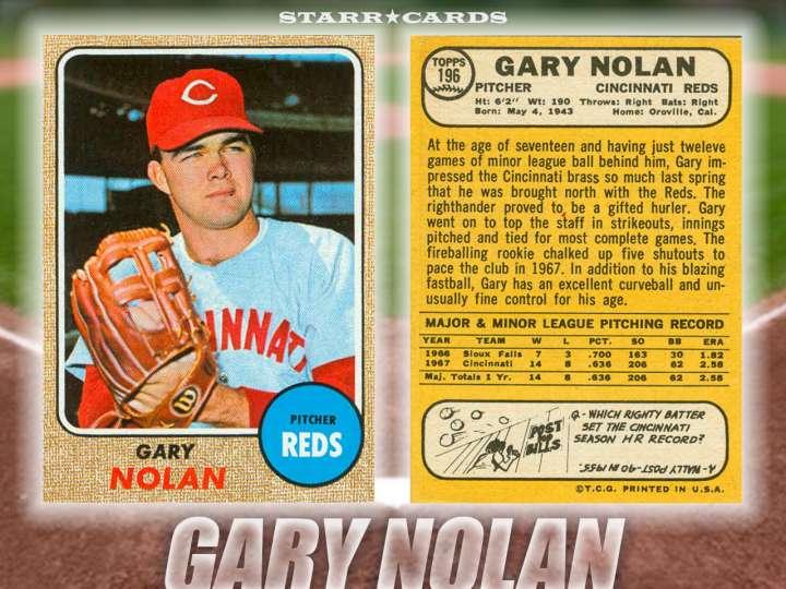 Gary Nolan Cincinnati Reds baseball card