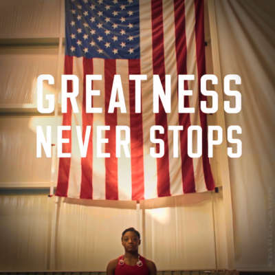Greatness Never Stops: Simone Biles in Beats by Dre ad