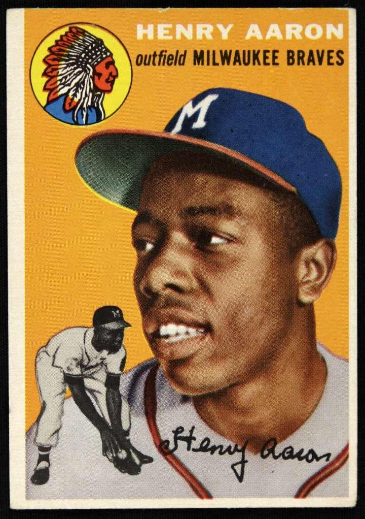 Hank Aaron, 1954 Topps baseball card