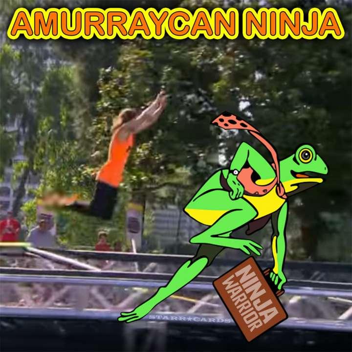 Jake Murray aka Amurraycan Ninja hops like Frogger on 'Team Ninja Warrior'