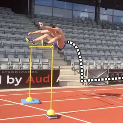 Janick Klausen gives new meaning to high hurdles