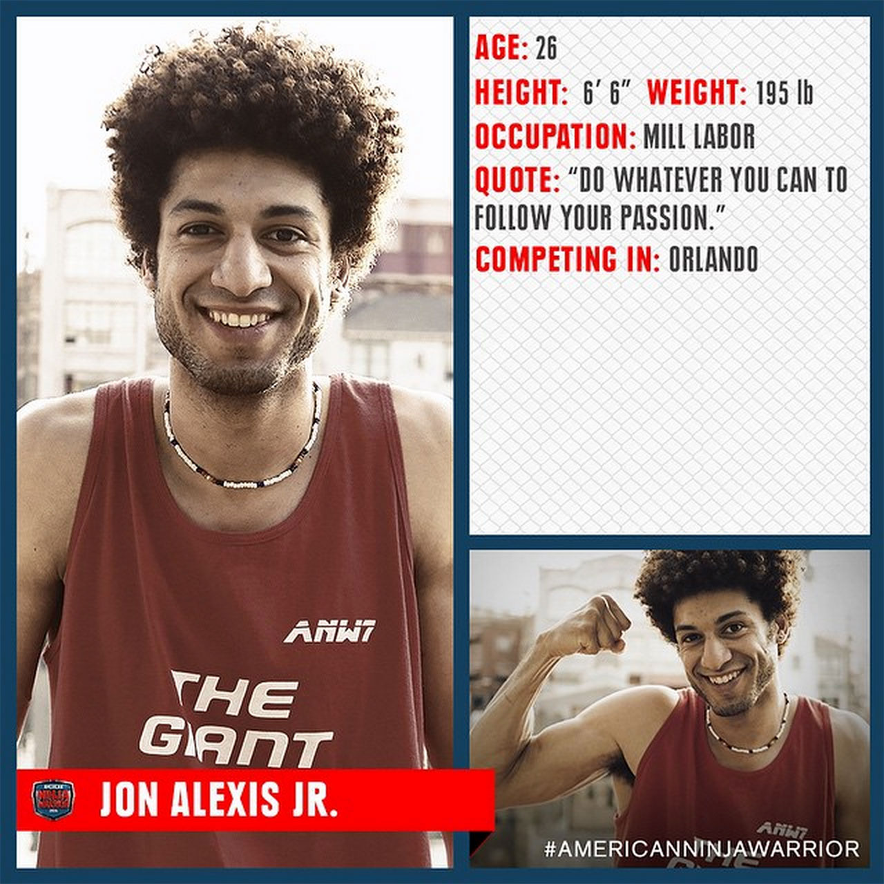 Jon Alexis Jr completes Orlando Qualifier of 'American Ninja Warrior'