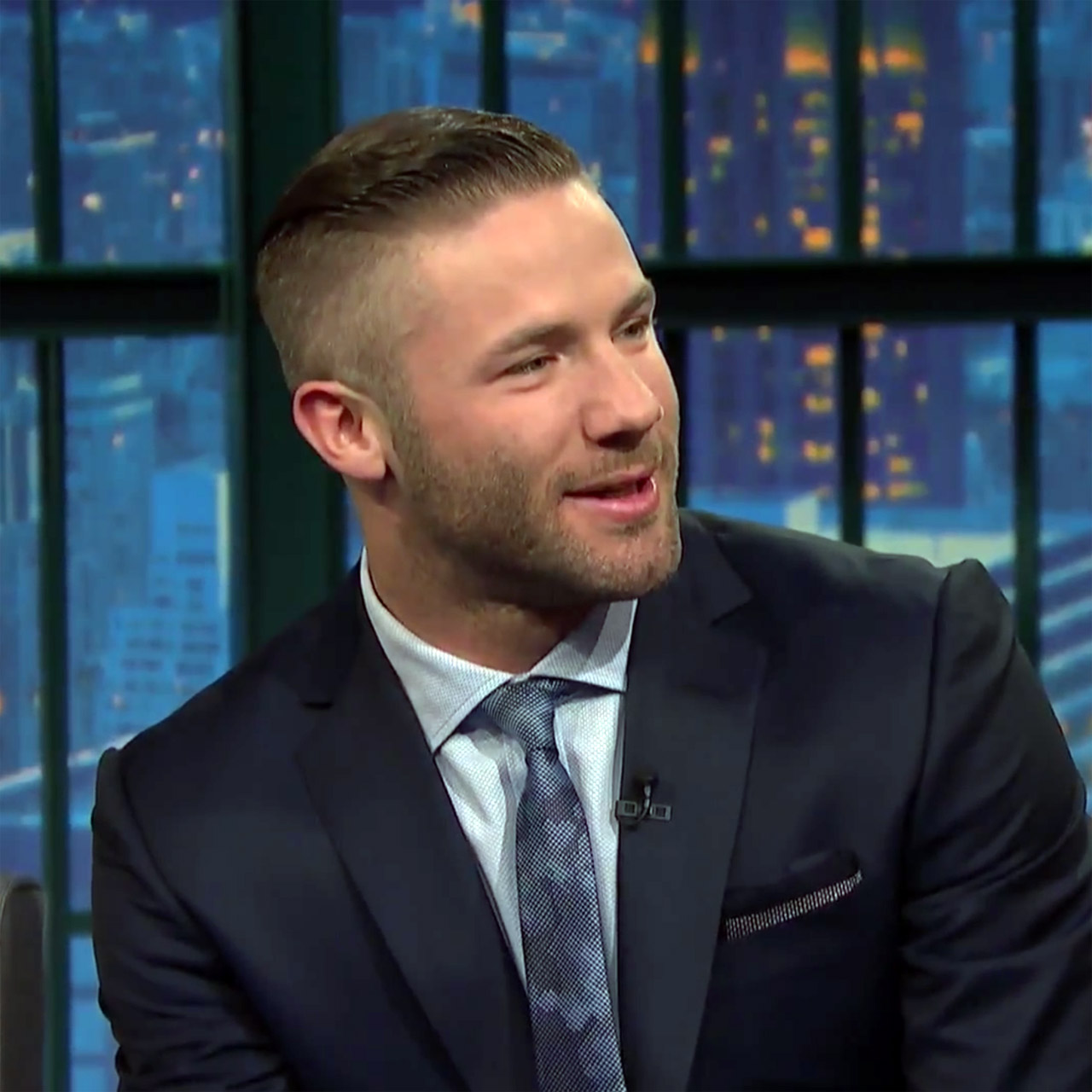 Patriots wide receiver Julian Edelman On Late Night with Seth Meyers