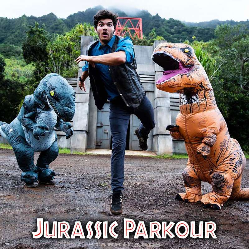 Jurassic Parkour: 'Jurassic World' meets freerunning