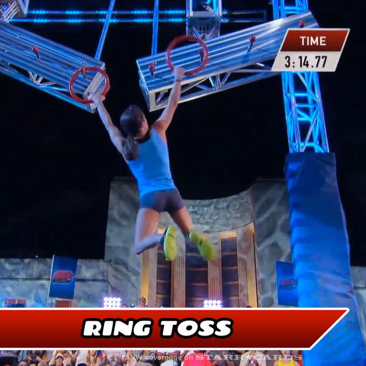 Kacy Catanzaro takes on the Ring Toss on American Ninja Warrior.